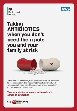 taking antibiotics when you don't need them puts you and your family at risk