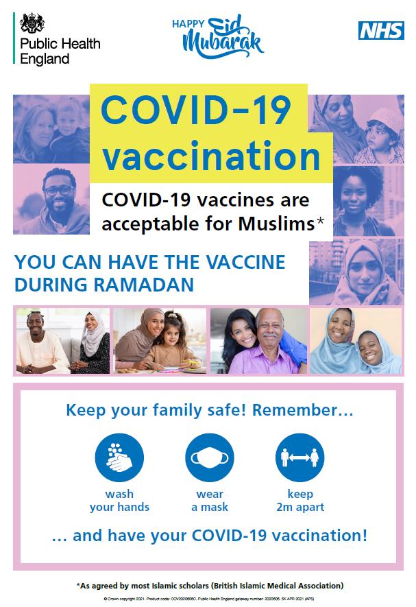 Covid Vaccination Guidance During Ramadan